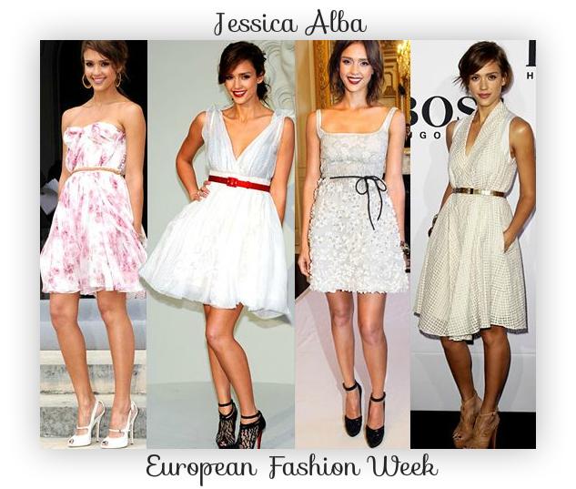 jessica alba - looks fashion week