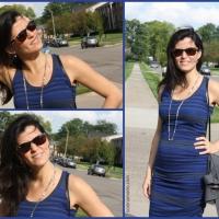 Look do dia (gravidez - 17 semanas): Vestido listrado