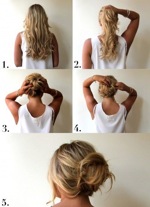 tutorial messy bun Found on momgenerations.com