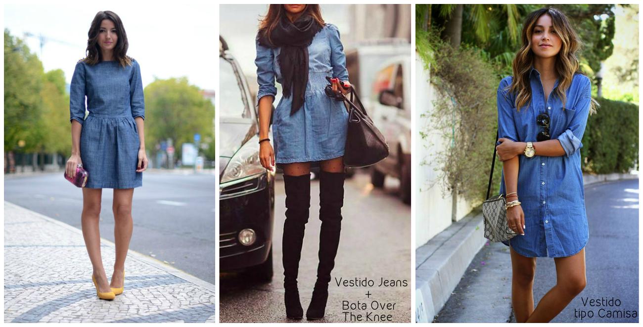 Vestido jeans tipo bata